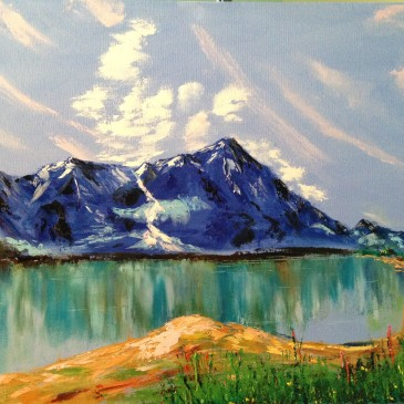 Mountains by the lake