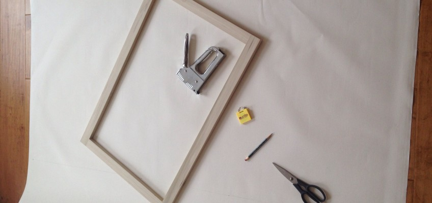 Stretching a canvas on a wood frame