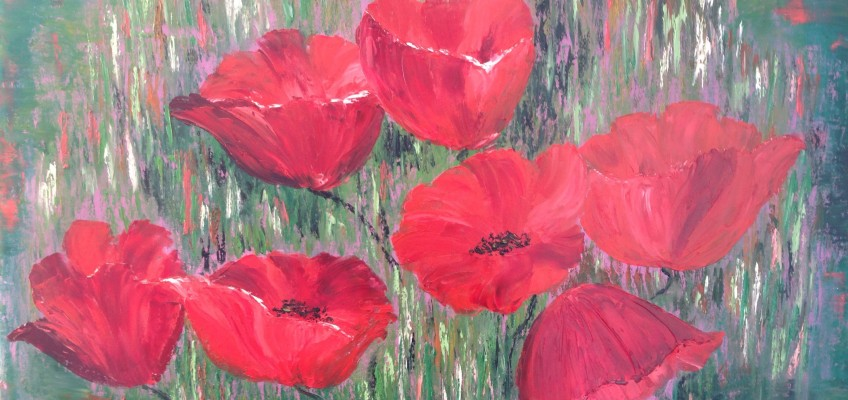 Poppies in the grass II my version