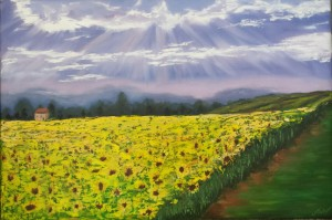"""""""The sunflower field"""" 20*30"""