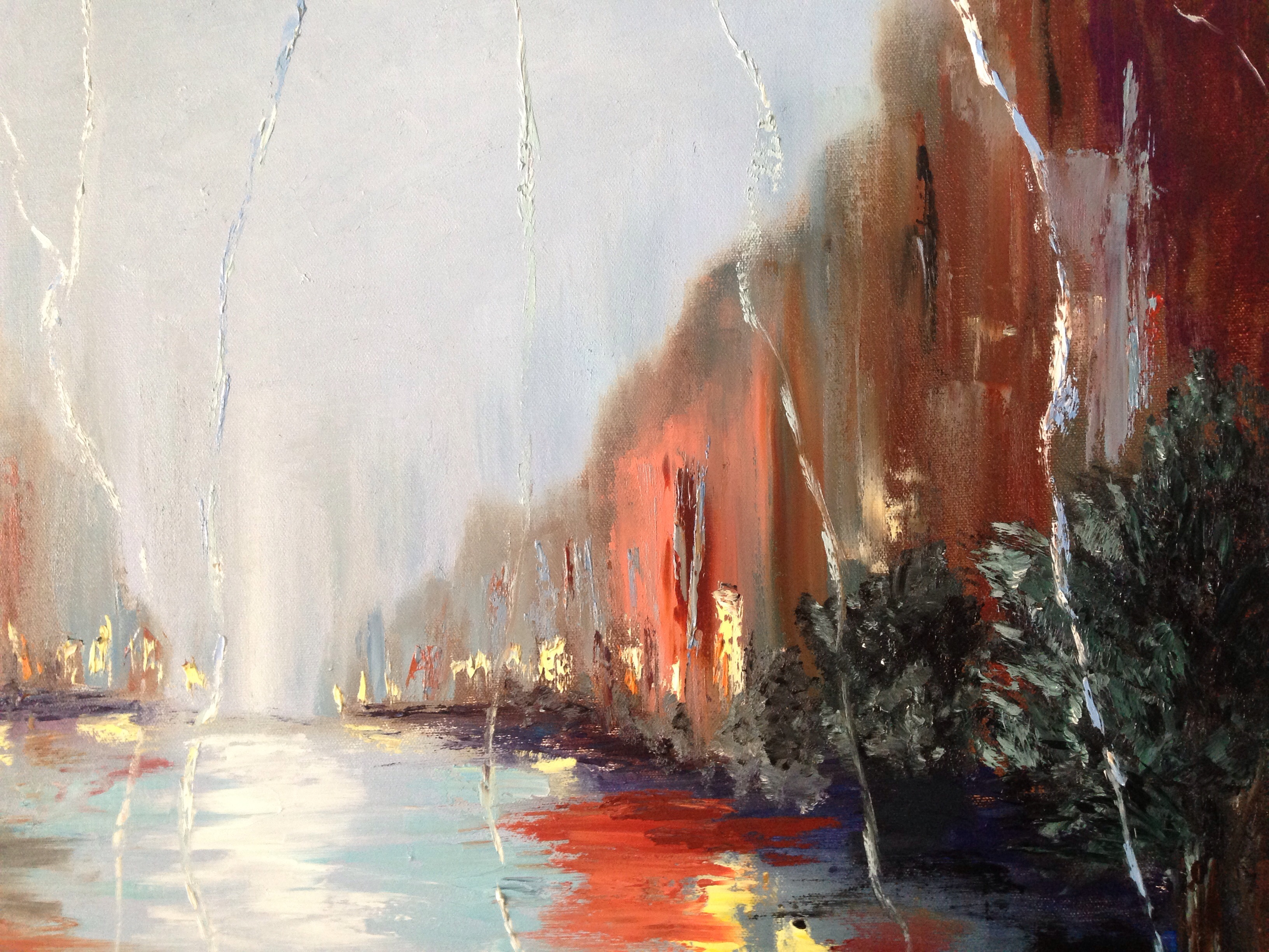 Rainy night in the city version ii i learn painting for Www painting com