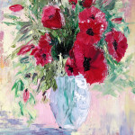 """Poppies in vase"" 8*10"