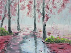 """Foggy fall morning"" 9*12"
