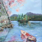 """Ruby lake canoeing"" 12*12"