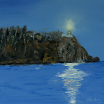"""Split rock lighthouse night signature"" 12*12"