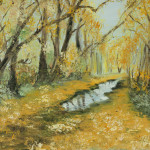 """Yellow forest alley"" 9*12"