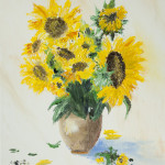 Sunflowers in vase 12*18