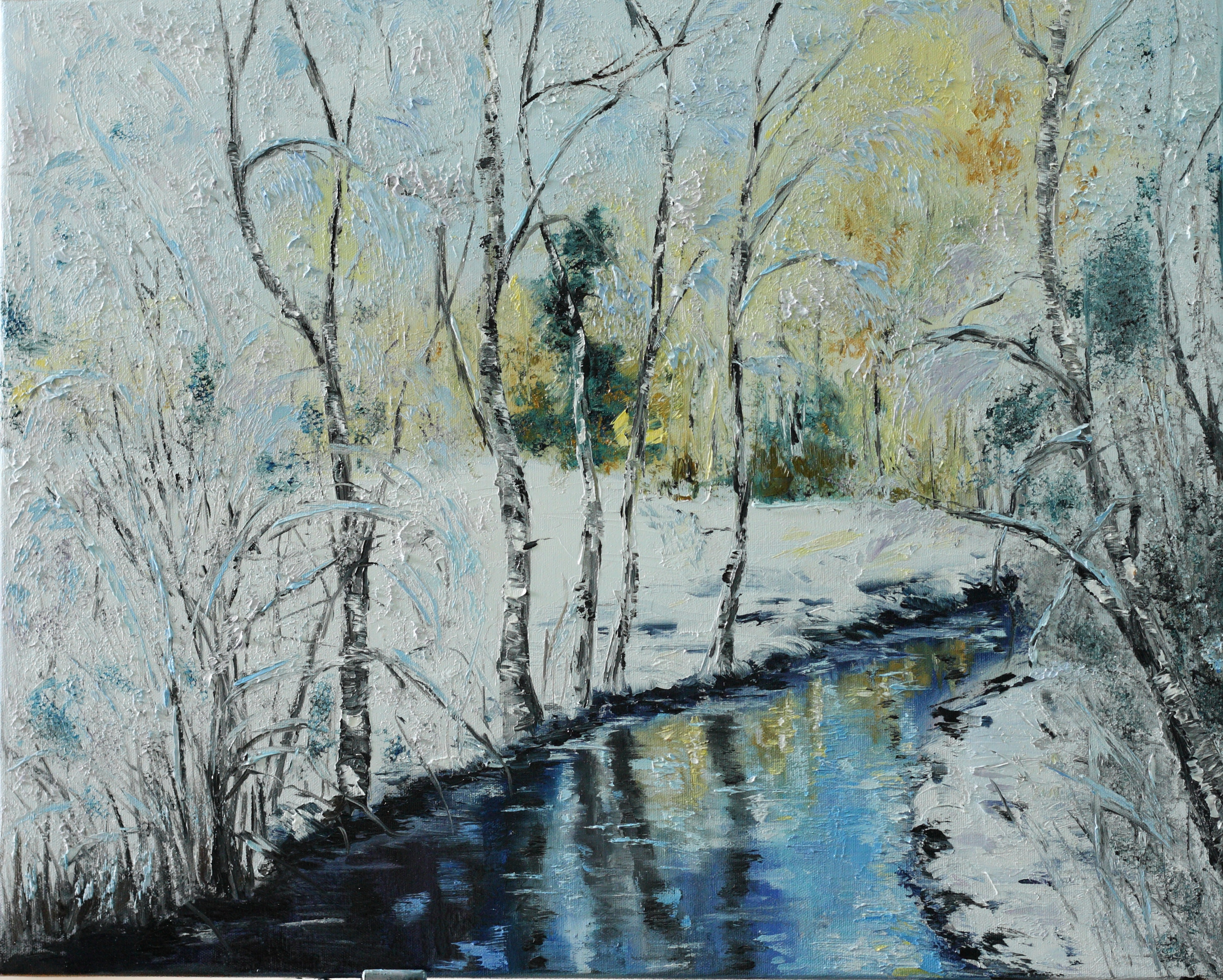 Winter river | I Learn Painting